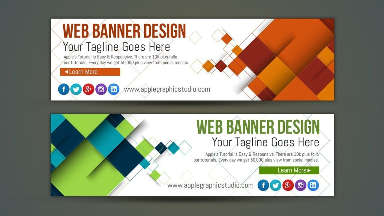 Professional web banner ad design photoshop tutorial banner ads professional web banner ad design photoshop tutorial baditri Images
