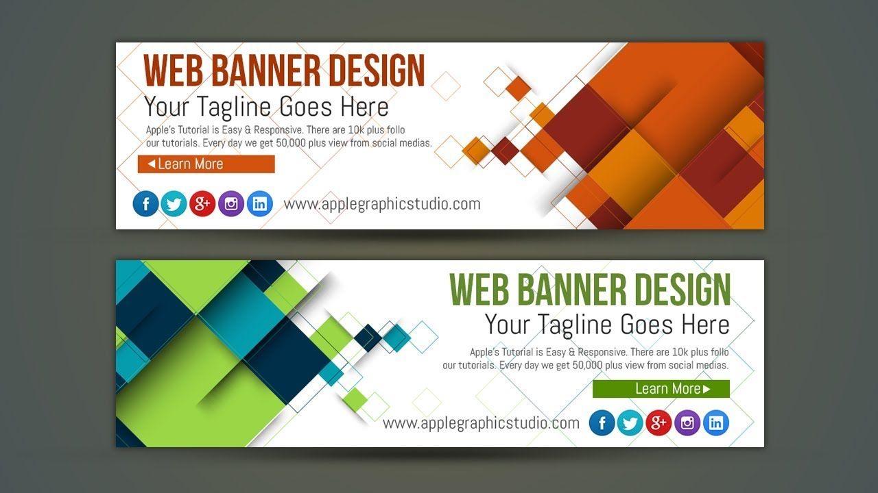professional web banner ad design photoshop tutorial banner ads