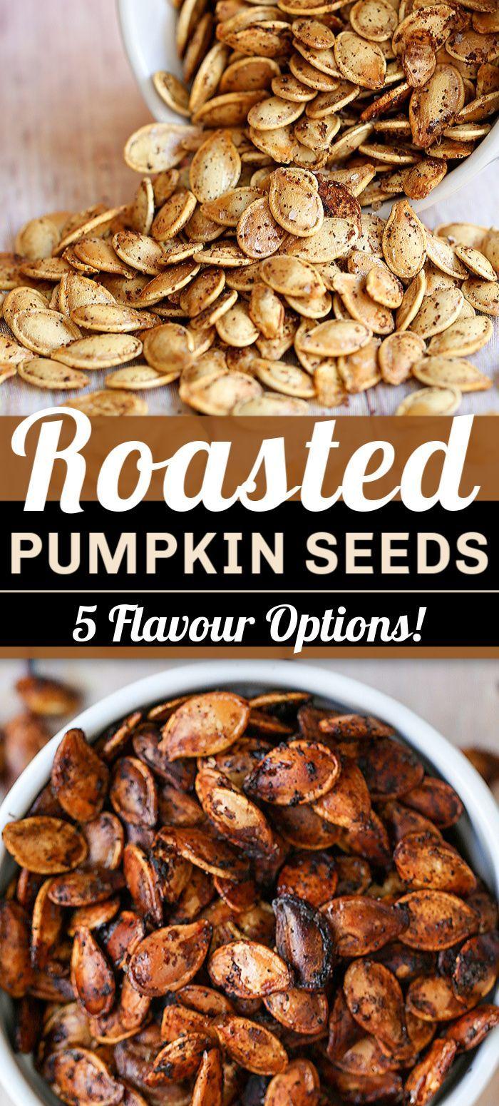 Roasted Pumpkin Seeds #pumpkinseedsrecipebaked