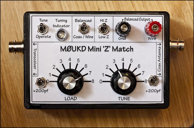 M0UKD Mini Z Match Antenna Tuner | QRP radio FUN! | Qrp, Ham