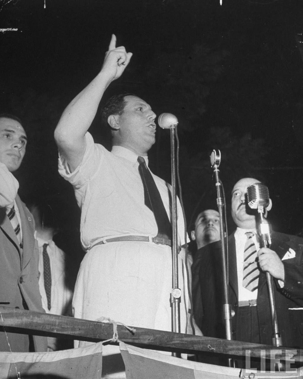 Perón en campaña 1946