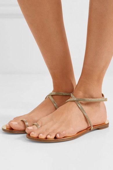 f2384f741d8f73 Sonay Swarovski crystal-embellished satin sandals