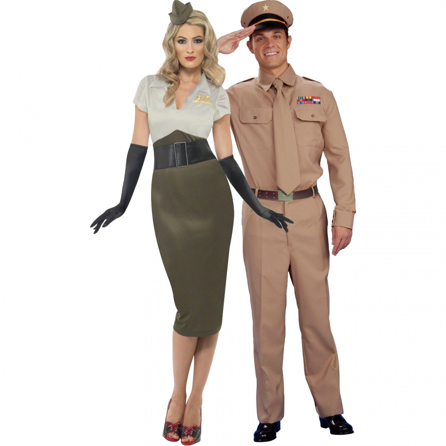 d04f21ec7ac Army General Adult Shirt and Tie and WW2 Army Pin Up Spice Darling ...