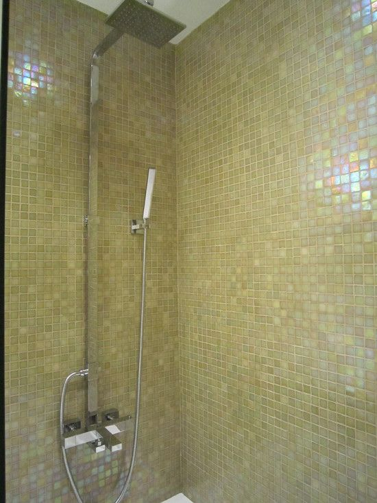 Bathroom Iridescent Tiles Design, Pictures, Remodel, Decor ...