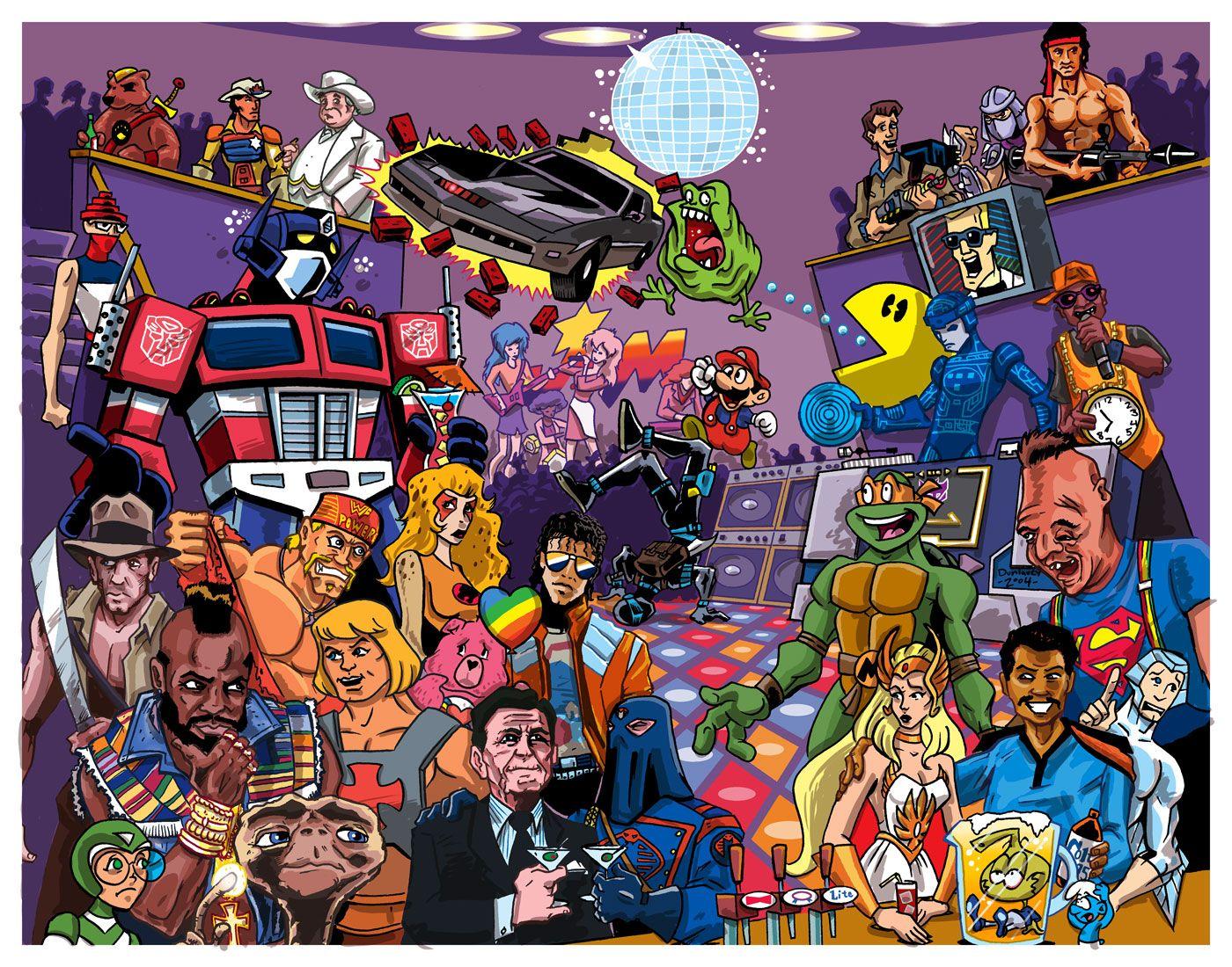 Cartoon Characters 80s 90s : Ryan dunlavey s cartoon character party awesomeness