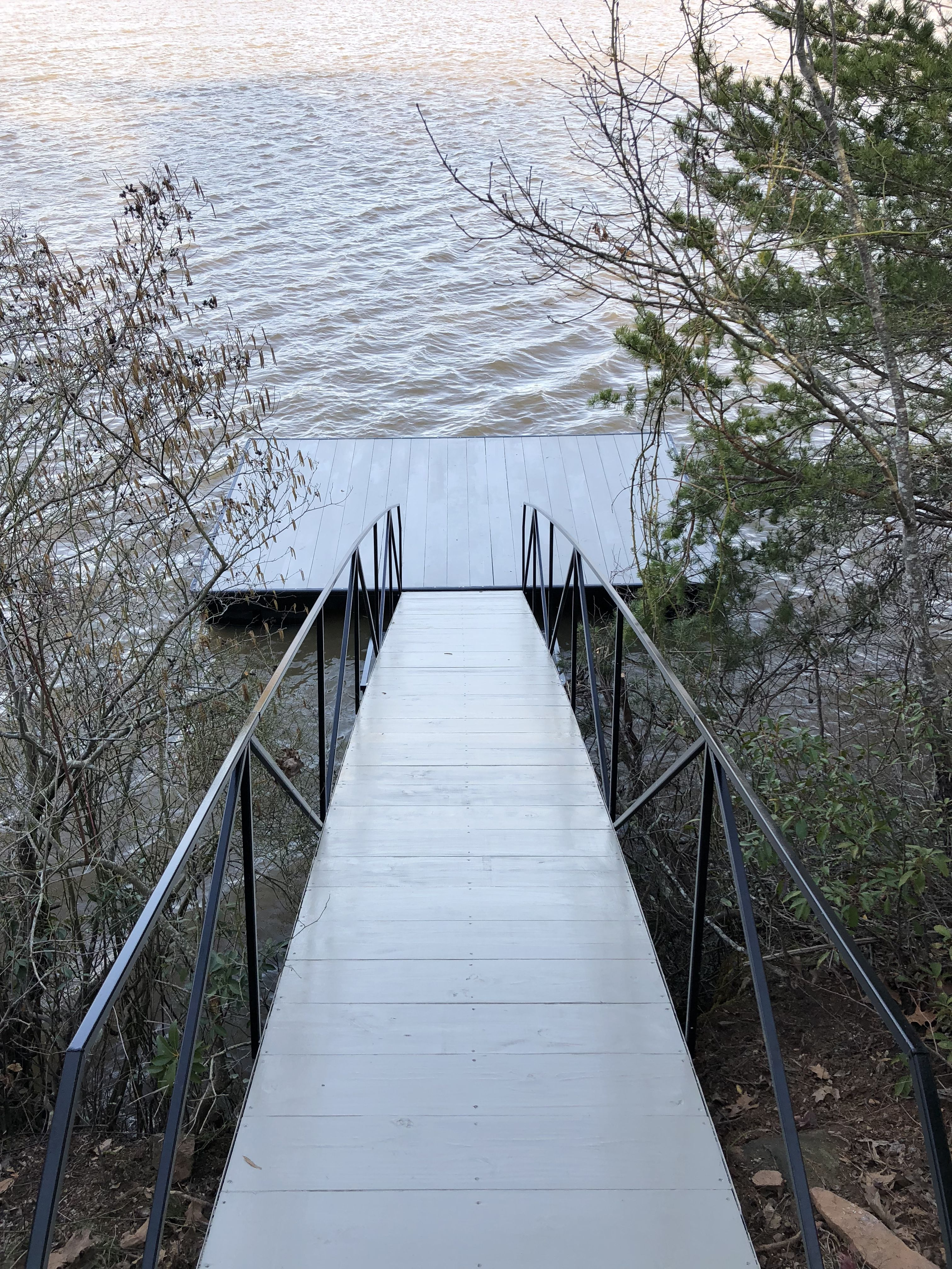 how to build a floating dock walkway