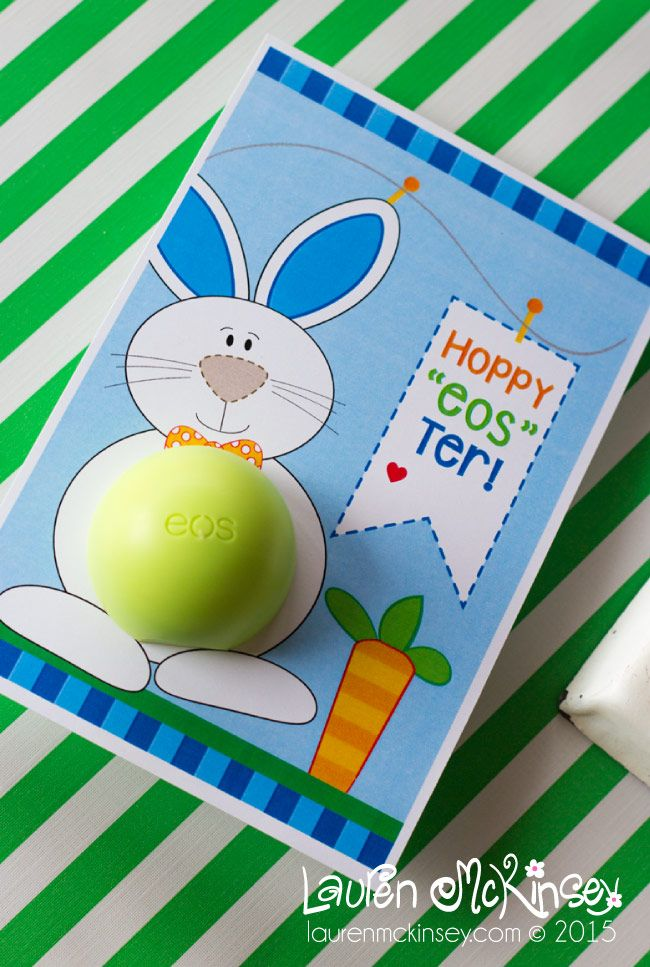 Easter bunny printables by lauren mckinsey eos lip balm easter bunny printables by lauren mckinsey eos lip balm printables negle Images