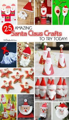 25 Amazing Santa Kids Crafts To Try Right Now Christmas Theme
