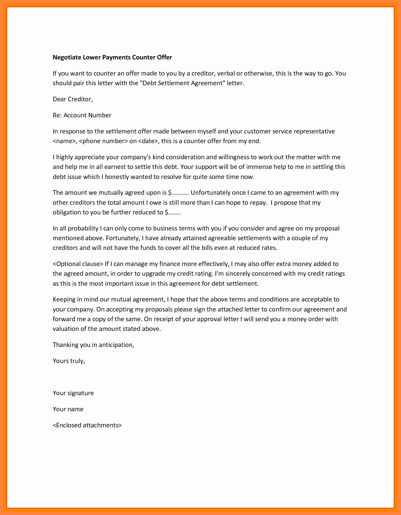 Counter Offer Letter Template New 3 Example Of Counter Offer Letter Salary Letter Templates Lettering Letter Writing Template