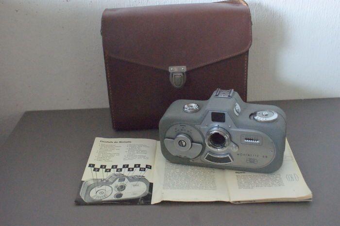 Zeiss Ikon Movinette 8 B 1959  Zeis Ikon Movinette 8B.Dubbel 8 veerwerk camera.Nette camera met minimale gebruikssporen.Veerwerkmotor werkt prima.Selenium belichtingsmeter werkt.Wordt geleverd met originele lederen Zeiss Ikon tas.Wordt verzekerd en aangetekend verzonden.  EUR 0.00  Meer informatie