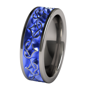 Amore Color Anodized Anium Wedding Band