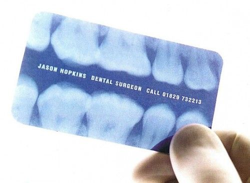 X-Ray Film Business Card | Dentistry | Pinterest | Business cards ...