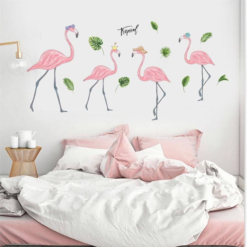 Waar Koop Ik Muurstickers.Pin Op Behang Flamingo
