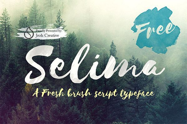 20 Free Watercolor Font Styles For Designers Best Free Script