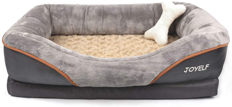 Amazon Com Joyelf Memory Foam Dog Bed Medium Orthopedic Dog Bed Sofa With Removable Washable Cover And Orthopedic Dog Bed Memory Foam Pet Bed Cool Dog Beds