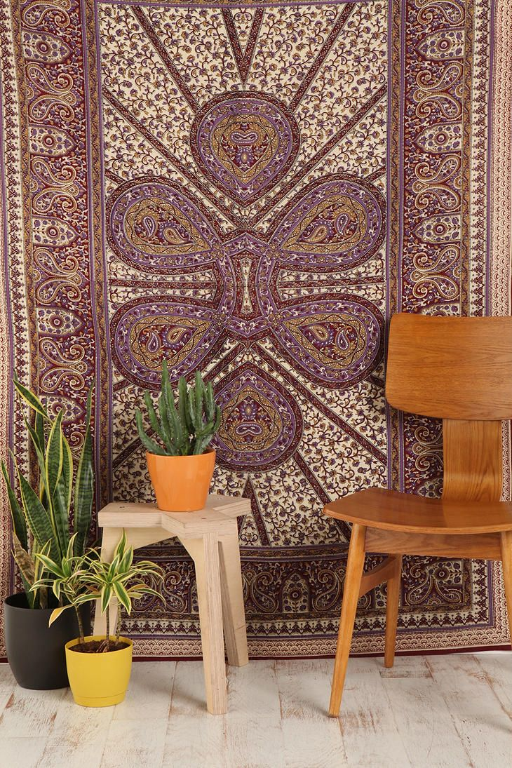 Paisley Teardrop Tapestry Tapestry Urban Outfitters Tapestry Cotton Tapestry