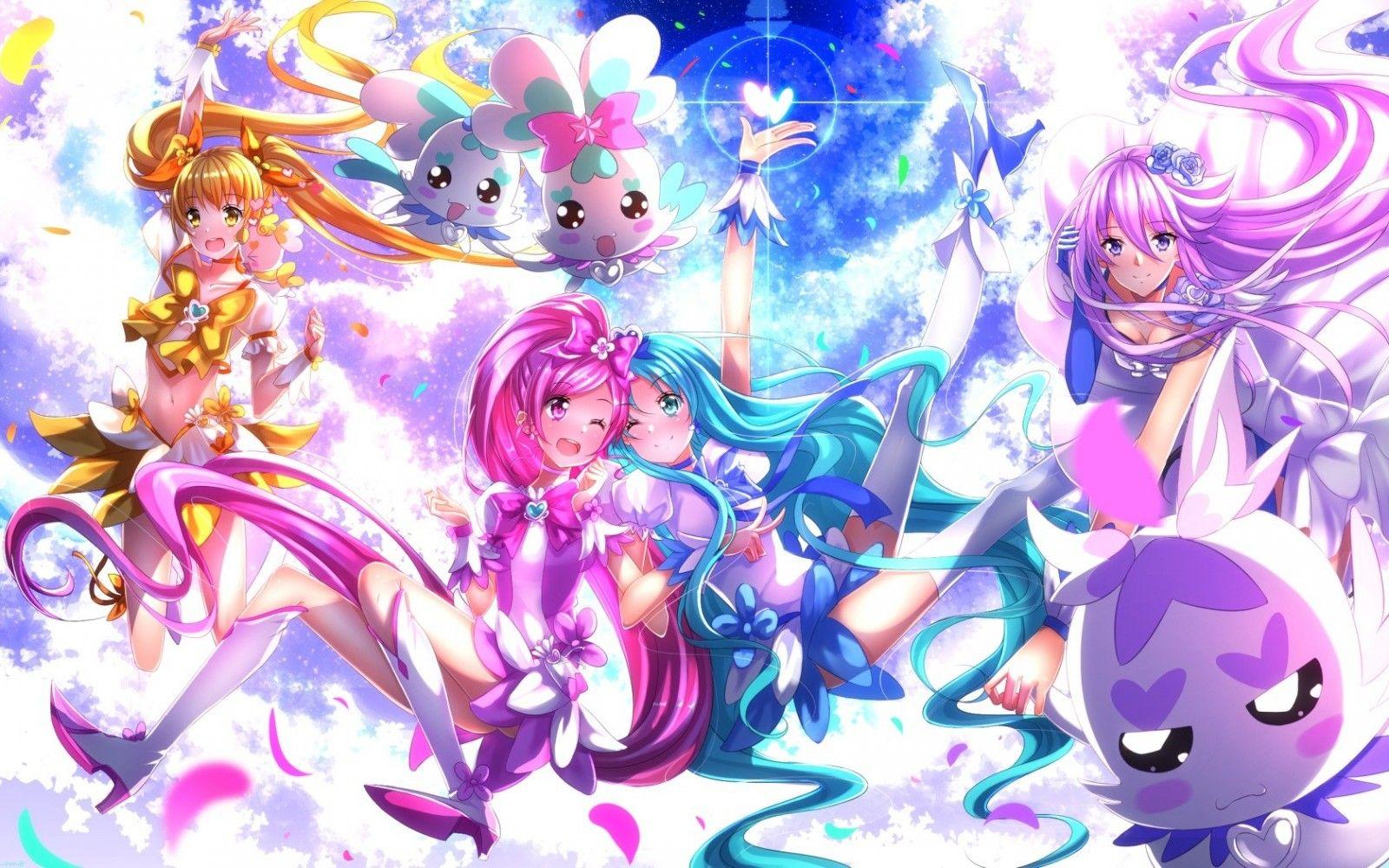 Wallpaper Illustration Blonde Long Hair Anime Girls Yellow