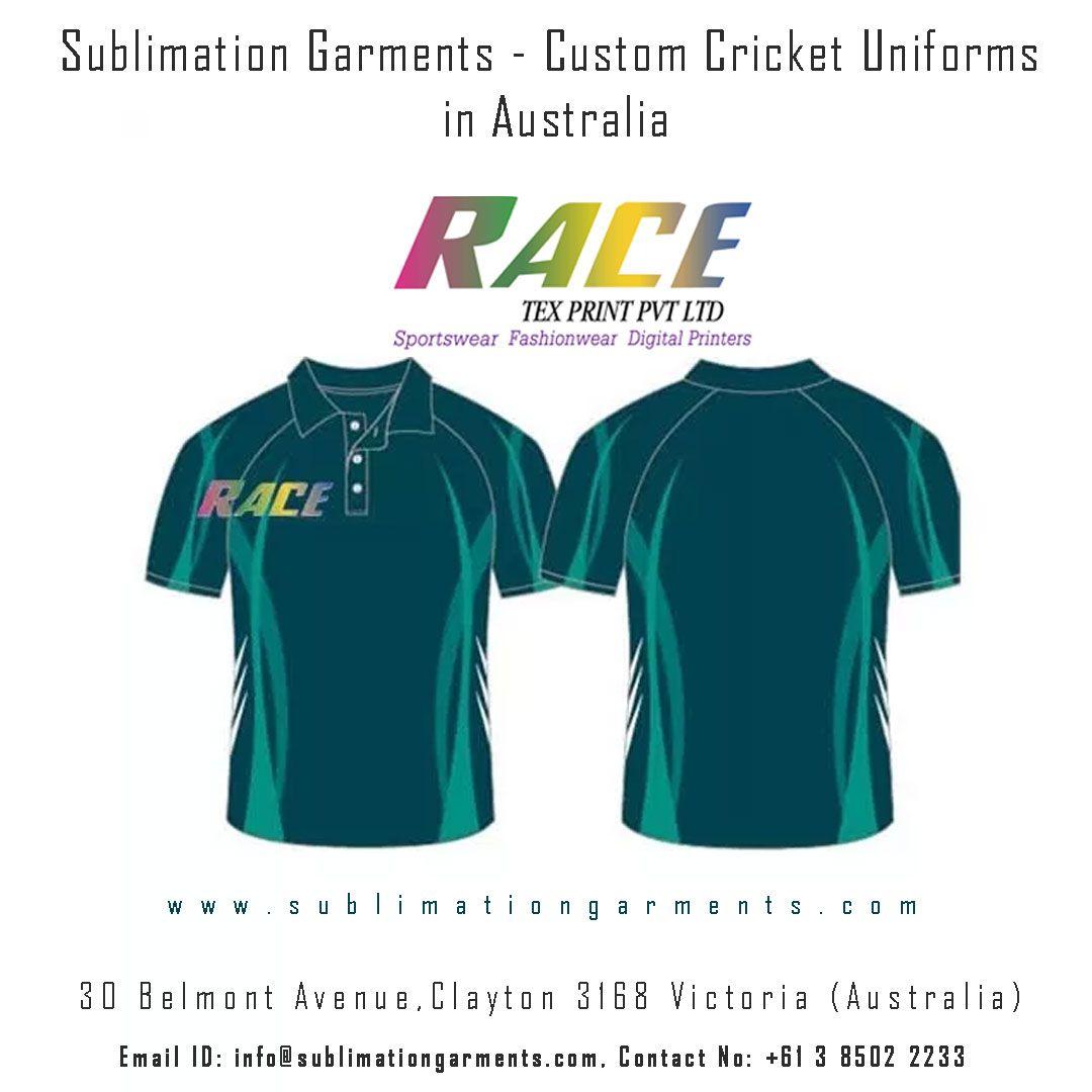 Sublimation Garments Custom Cricket Uniforms in