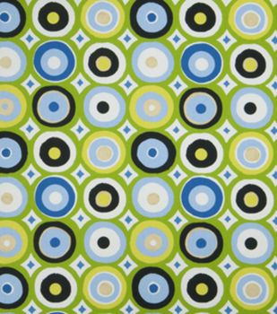 Home Decor Print Fabric-Eaton Square Dolly-Green Geometric