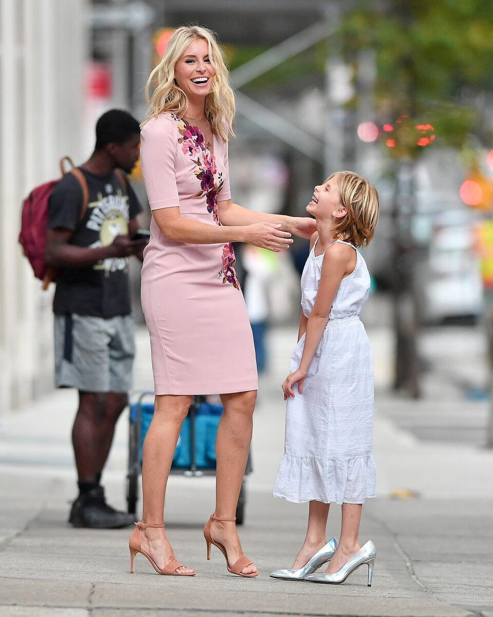 Niki Taylor and daughter Ciel Lamar have a laugh in New