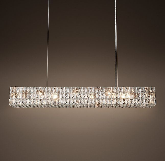 Crystal halo chandelier 41 this is expensive but curious if you rhs spiridon linear chandelier the luxe design of austrian lighting our fixtures faceted crystals are hand set within a matte iron frame and suspended aloadofball Choice Image