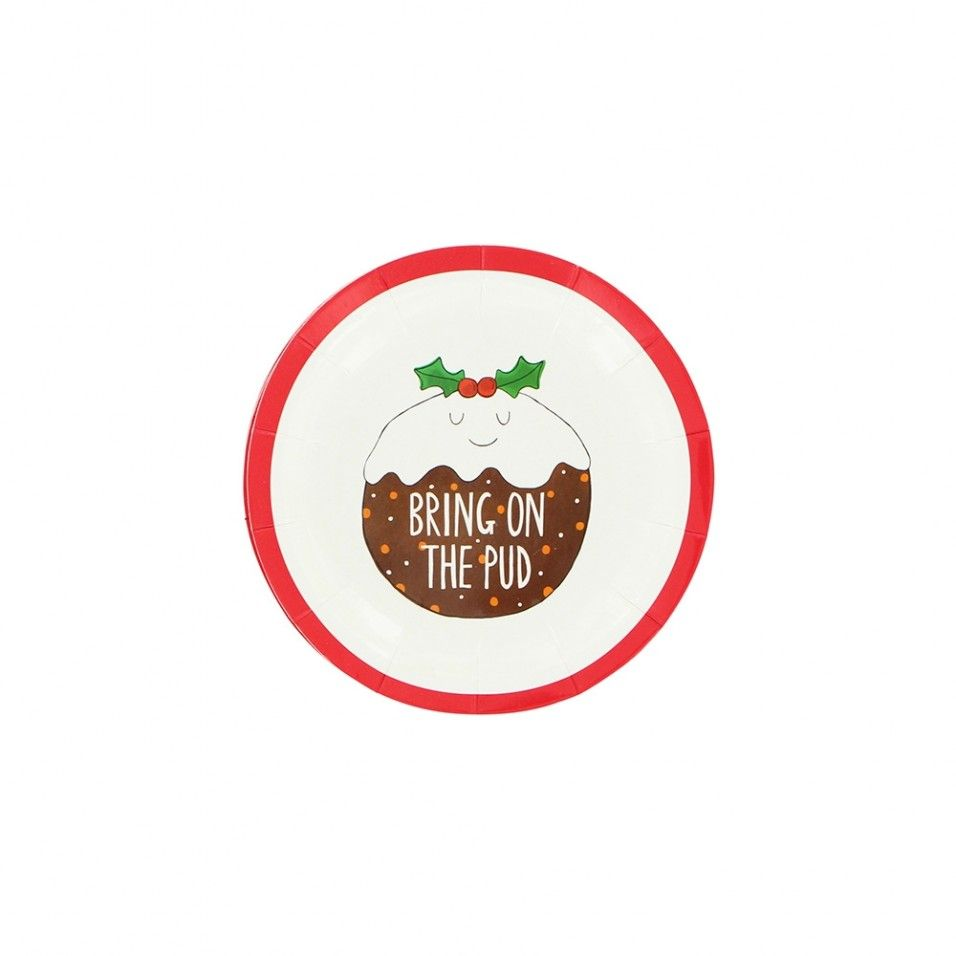 Pud mini Christmas paper plates - set of 10  sc 1 st  Pinterest & Pud mini Christmas paper plates - set of 10 | Christmas Characters ...