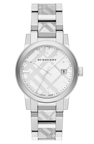 Burberry Check Stamped Bracelet Watch, 34mm available at #Nordstrom