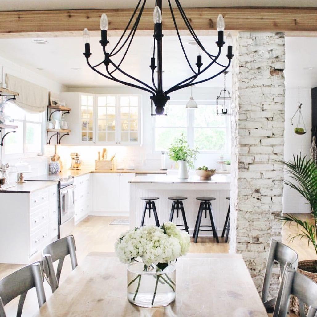 Exposed brick pillars in kitchen | KITCHENS | Pinterest | Exposed ...