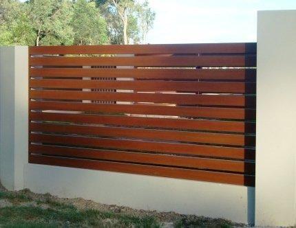 Horizontal Fence Glass Panel Aluminium Horizontal Slat