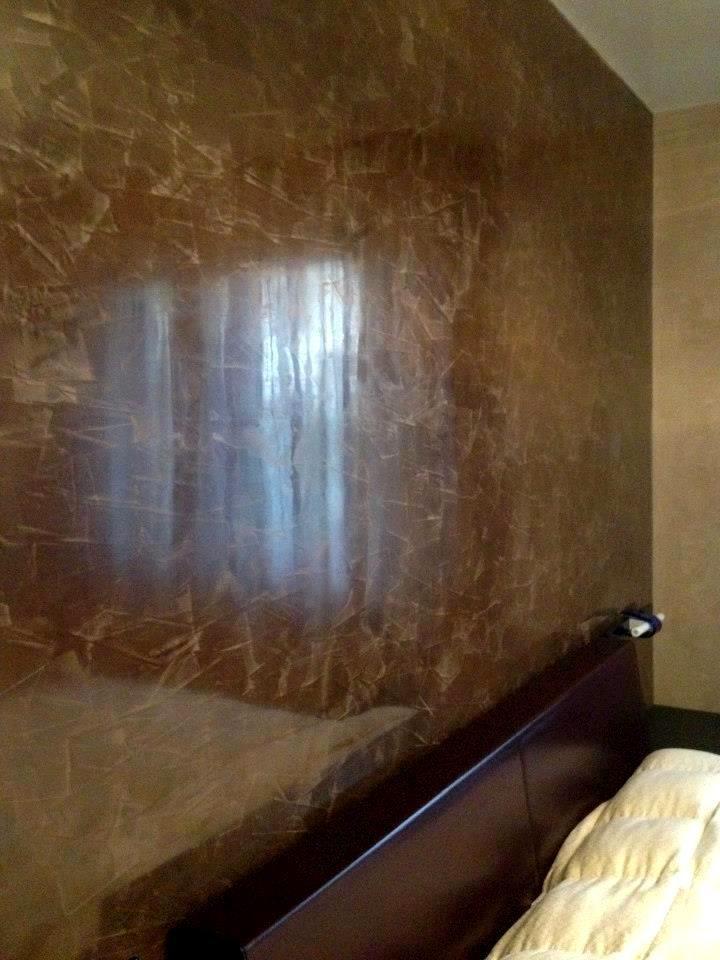 Sembra marmo ma encausto con foglia in oro del maestro - Marmo veneziano ...