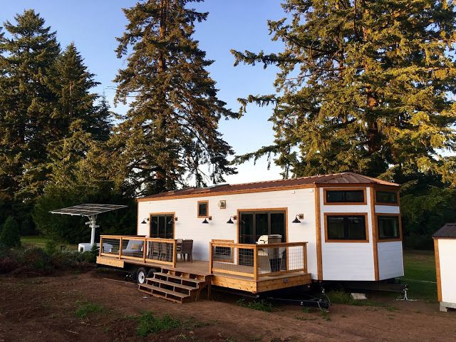 A stunning tiny house on wheels by Tiny Heirloom called the