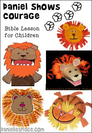 Daniel in the Lion's Den Crafts and Sunday School Lesson for