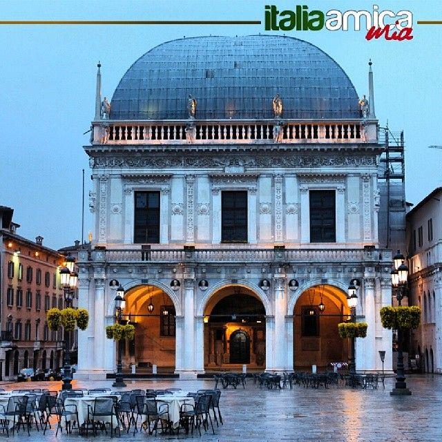 The main square of Brescia, piazza Loggia