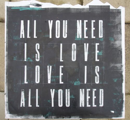 All you need is love…