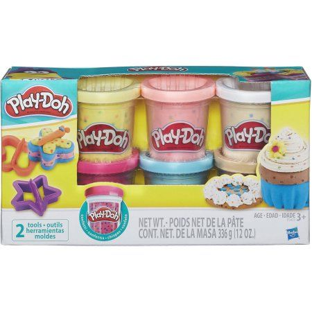 Play Doh Confetti Compound 6 Pack With 2 Tools Ages 3 And Up Walmart Com Play Doh Maquetas Para Ninos Colgante De Pared Diy