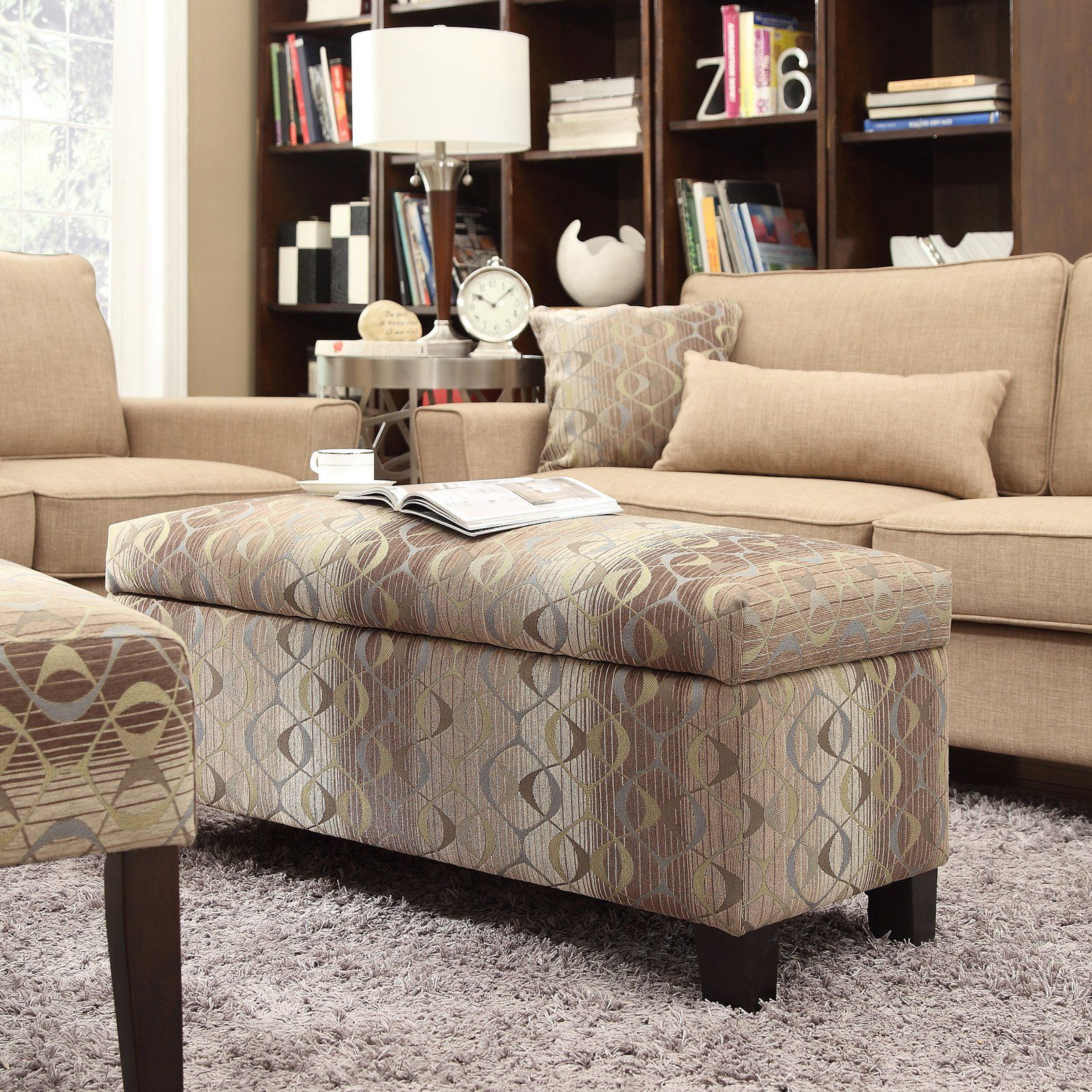 Have to have it. Inspire Q Roman Oval Print Fabric Storage Bench ...