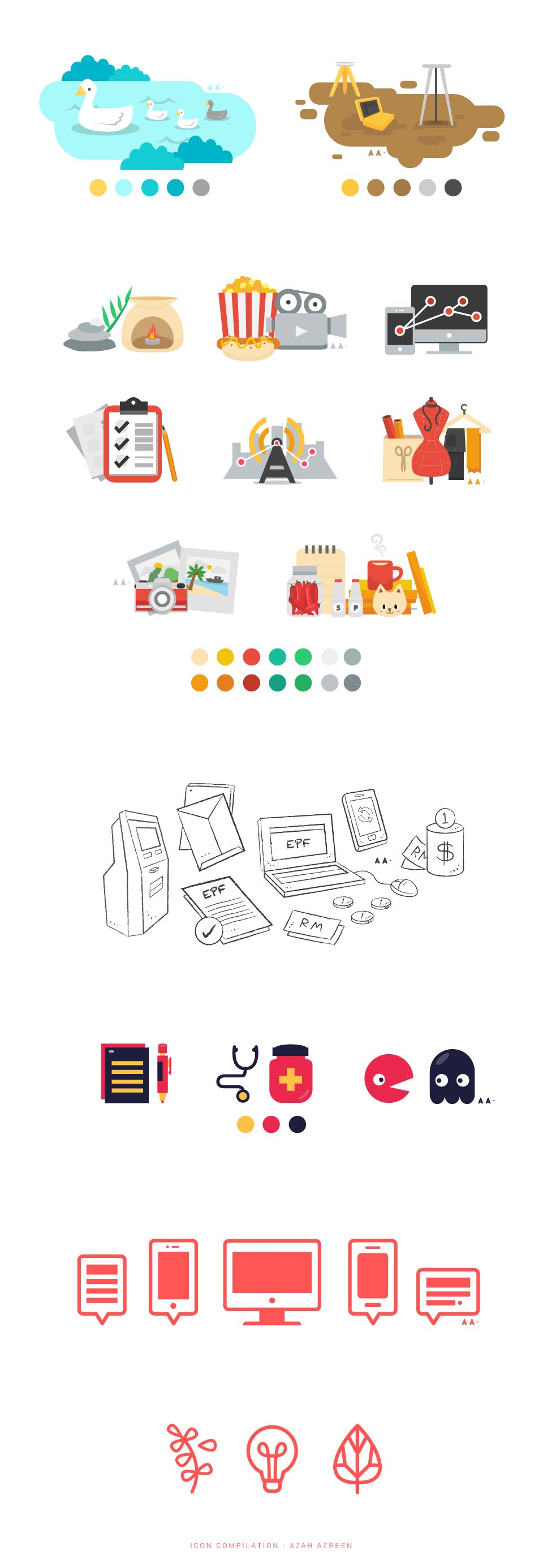 Icons - Compilation on Behance