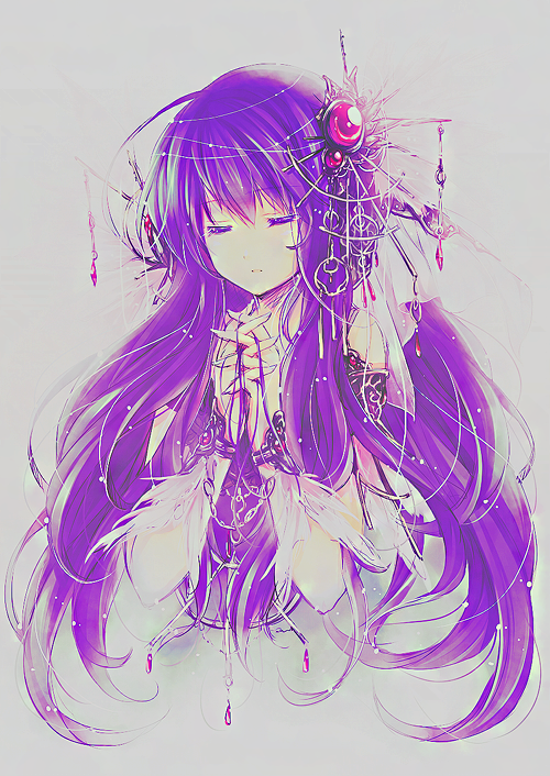 anime girl with purple hair tumblr Google Search