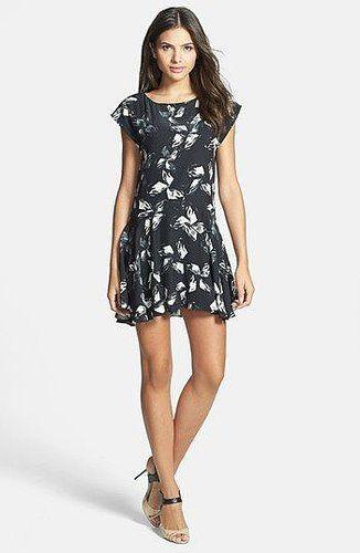Halston Cap Sleeve Dress