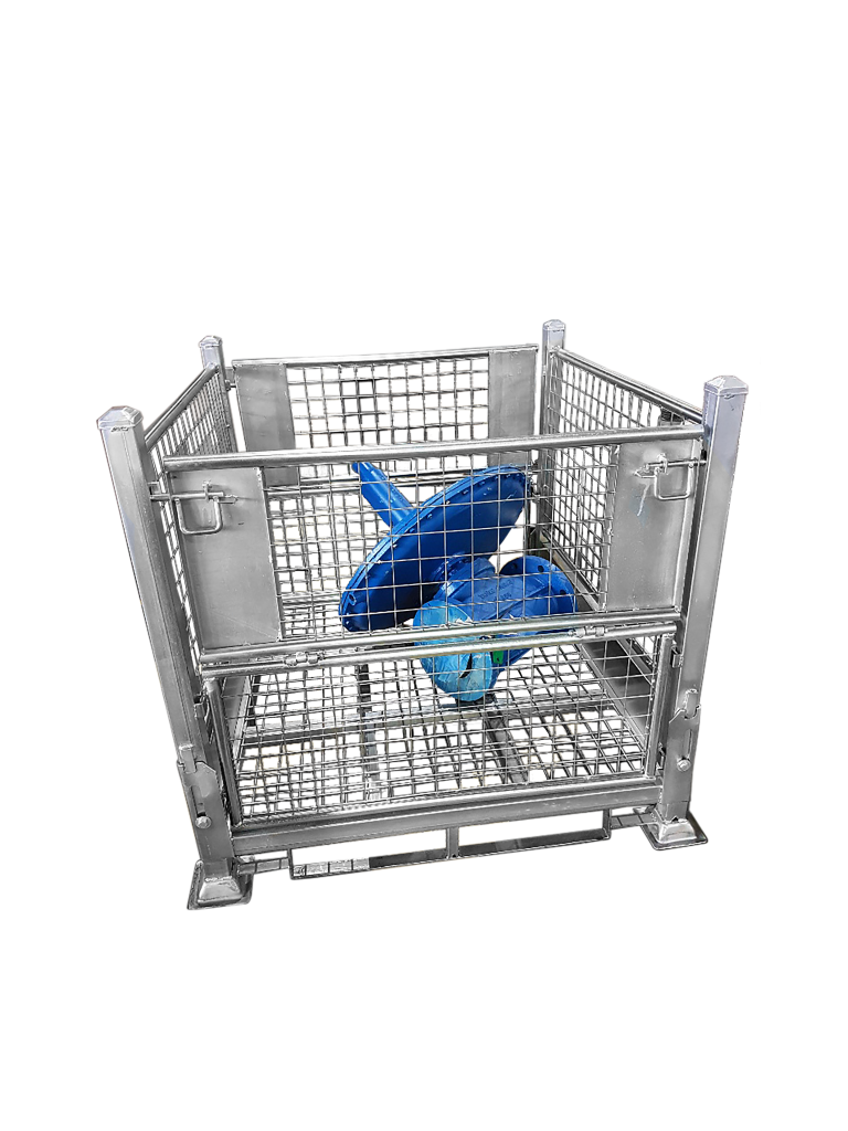 Metal Cages Steel Pallet Cages Are Beneficial To Business Pallet Steel Cage Metal Storage Containers