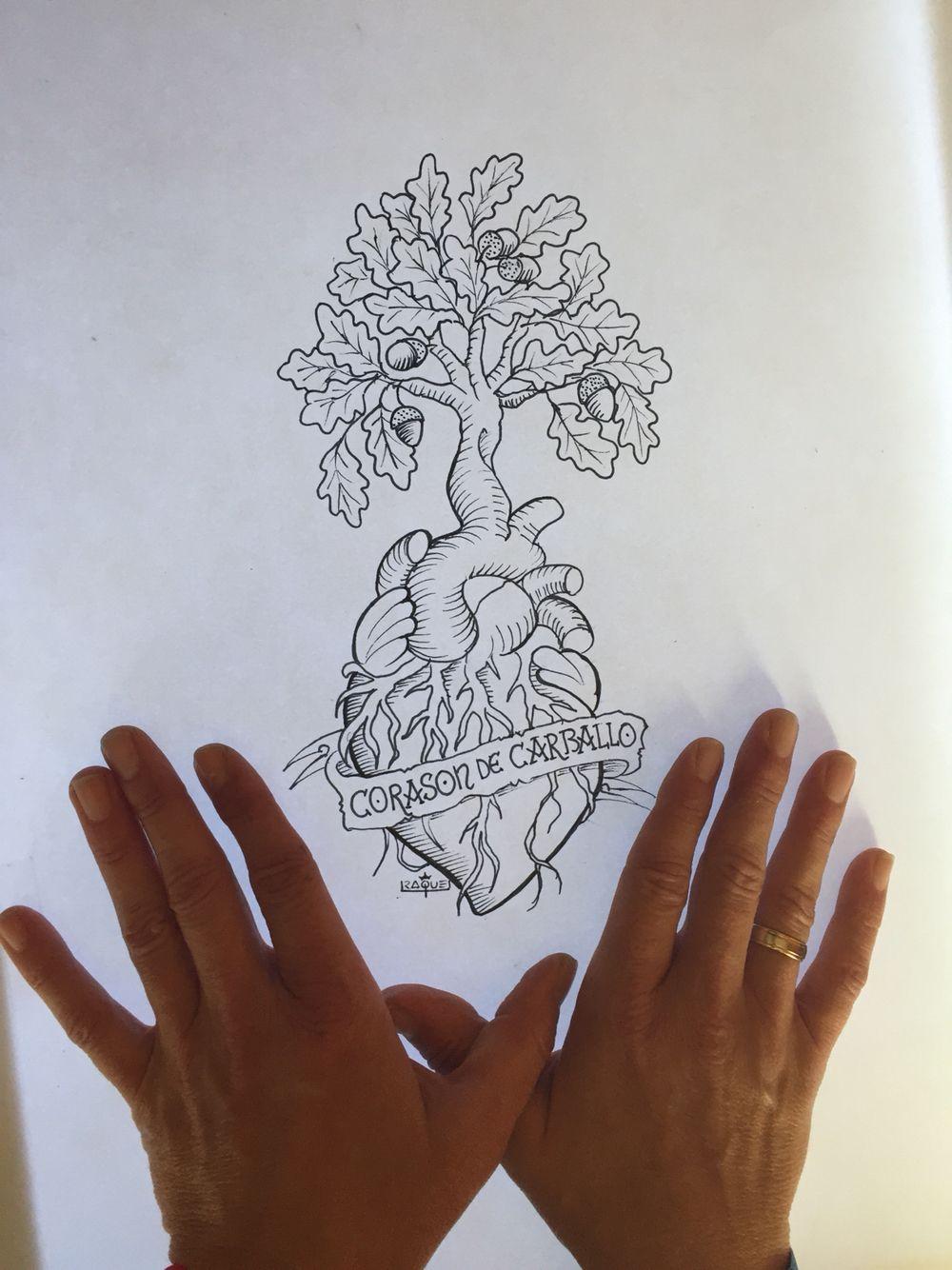 Boceto corasón de Carballo