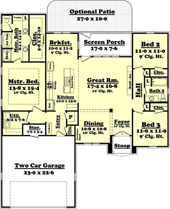 30 Creative Open Concept: This Charming 3 Bedroom And 2 Bath, Split Plan Has Much To