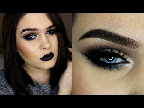 Smokey Eye and Dark Lips | Makeup Tutorial - YouTube