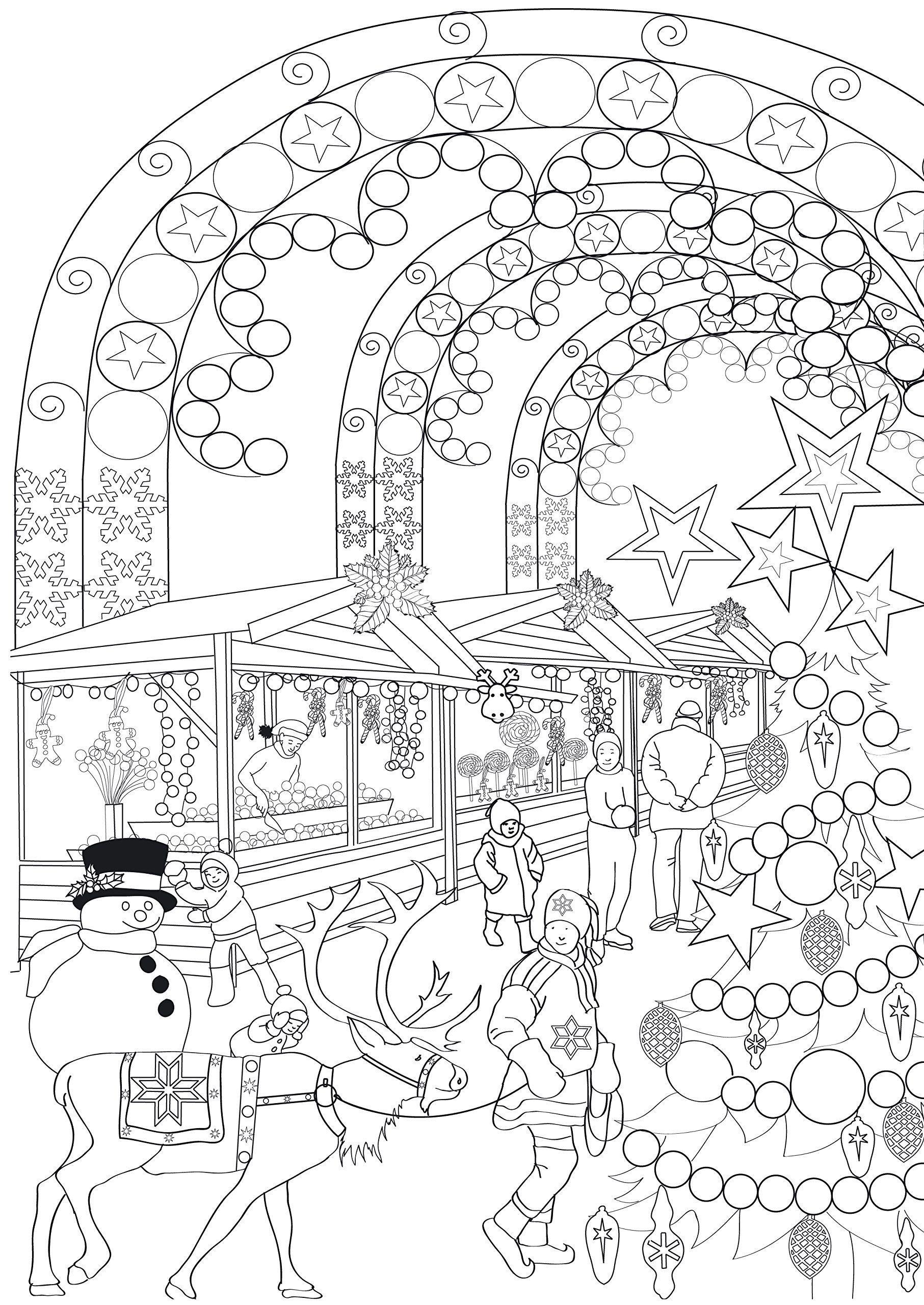 Antistress noel coloring page | Ausmalbilder, Ausmalbilder