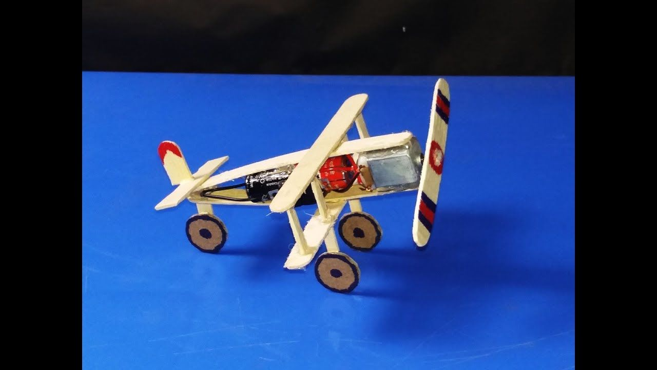 How to make Aeroplane with DC motor - Toy Plane for Kids