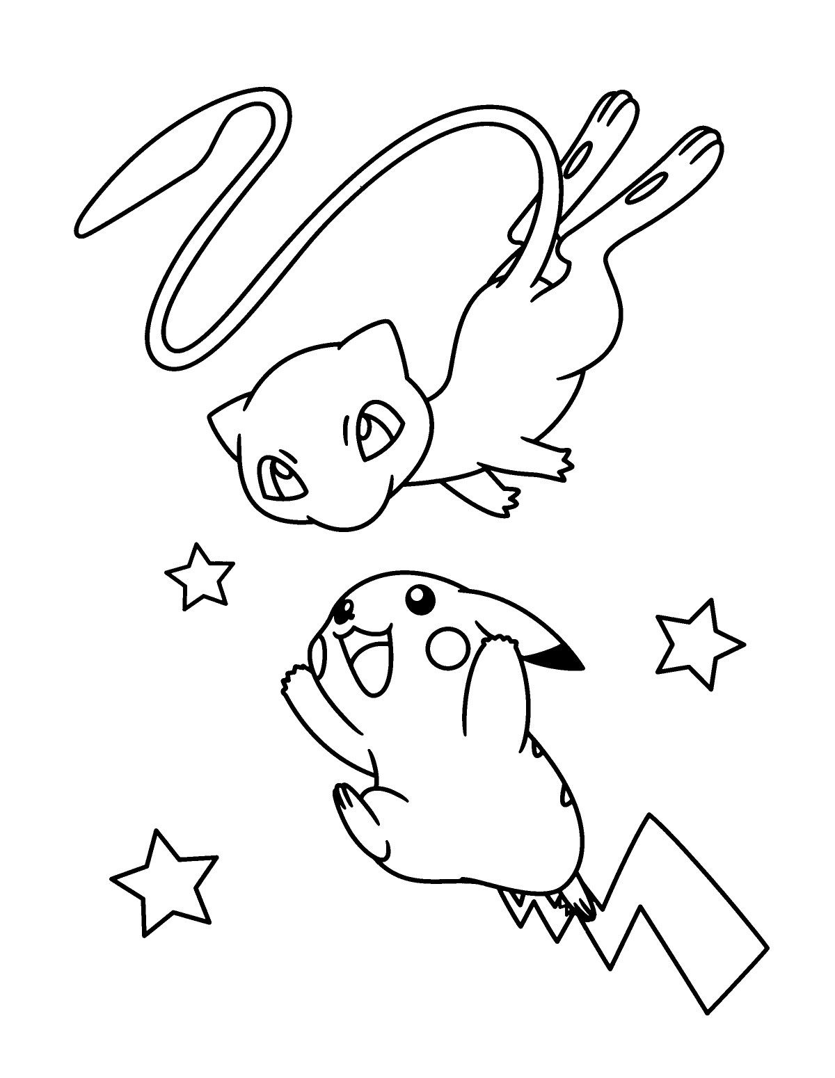 Easy To Color Mew Coloring Pages Coloriage Pokemon Dessin Pokemon A Imprimer Coloriage Pokemon A Imprimer