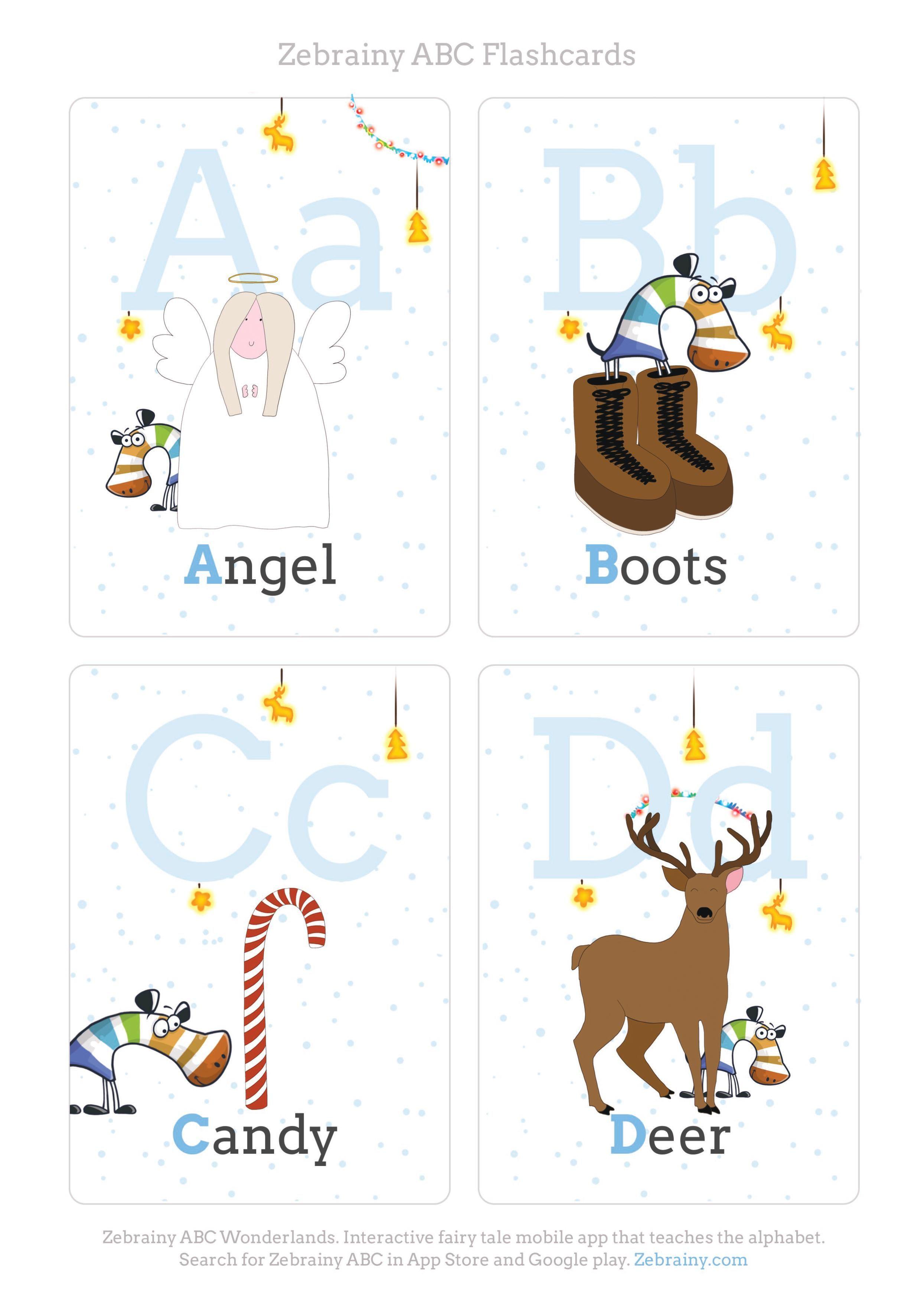 Christmas printable abc flash cards abc flashcards abc