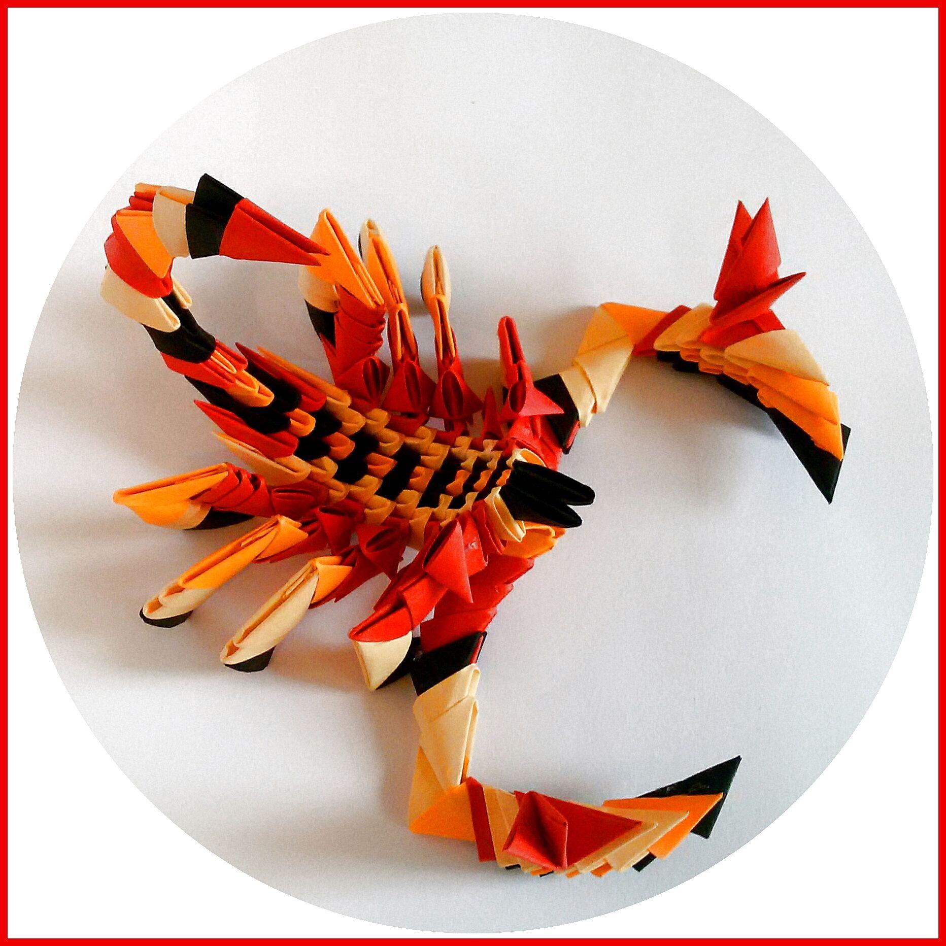 3d origami scorpion httpsfacebooklyuba3dorigami how to make origami scorpion tutorial paper gift jeuxipadfo Gallery