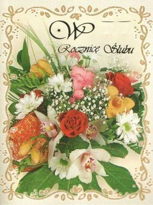 W Rocznice Slubu Floral Wreath Floral Table Decorations