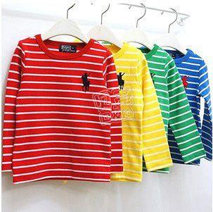 2013 spring stripe paragraph boys clothing girls clothing child long-sleeve T-shirt tx-1387 basic shirt $6.44